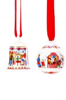Minikugel und Glocke Hutschenreuther