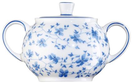 Zuckerdose 1382 Blau Blüten