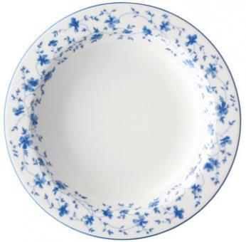 Suppenteller tf. 23cm 1382 Blau Blüten