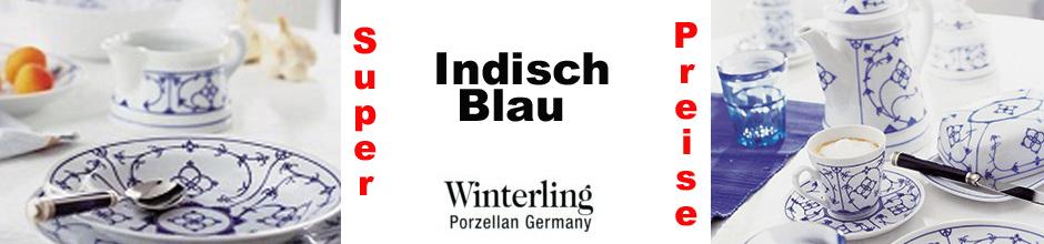 Banner Indisch Blau